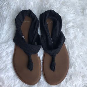Black Sanuk Sandals